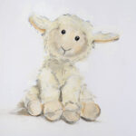 Sheepie. Graphite, gesso and pastel on cartridge paper, NFS ℗